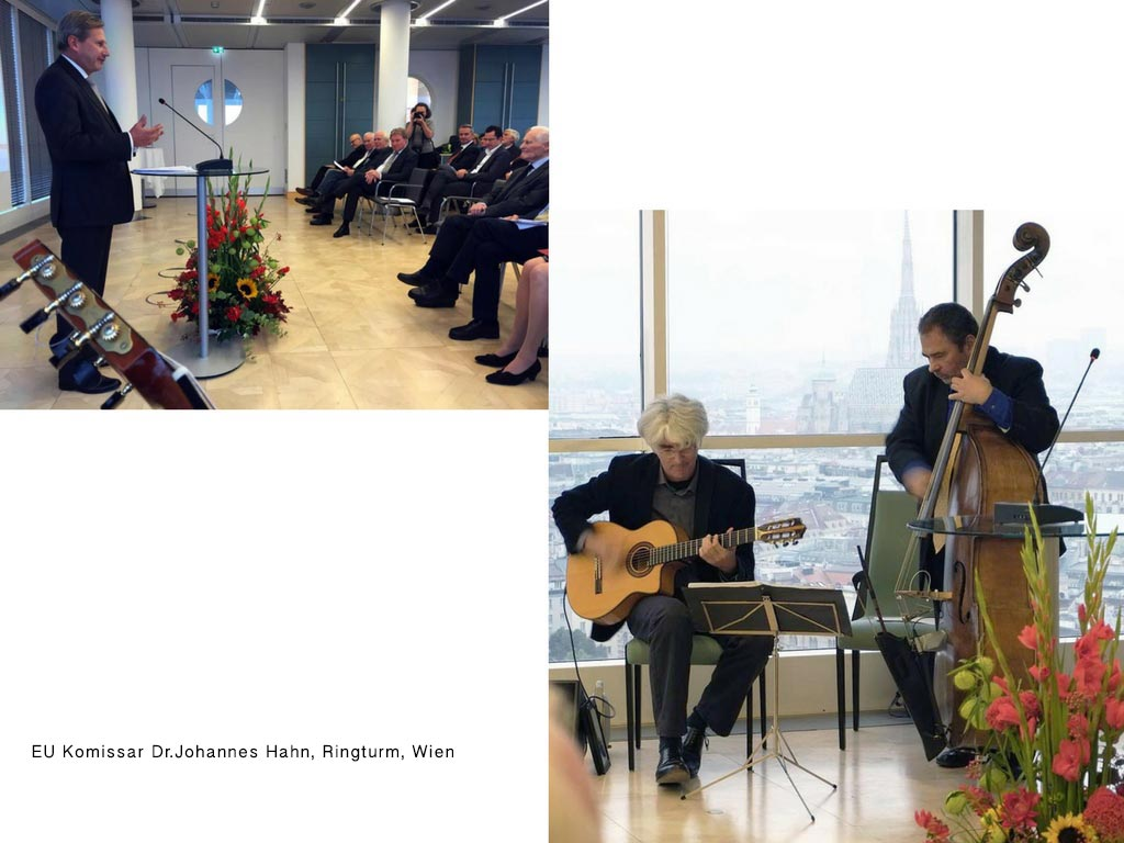 mit EU-Komissar Dr.Johannes Hahn, Ringturm, Wien